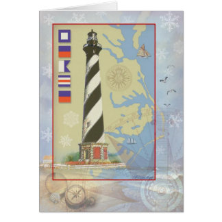 Cape Hatteras Light Christmas Card