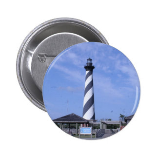 cape hattera's light house nc 2 inch round button