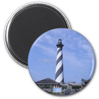 cape hattera's light house nc 2 inch round magnet