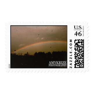 Cape Hatteras Light House Rainbow Stamp