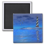 Cape Hatteras Lighthouse 2 Inch Square Magnet