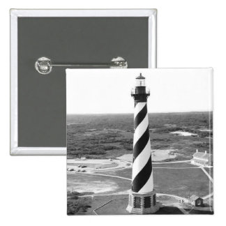 Cape Hatteras Lighthouse black and white photo Button
