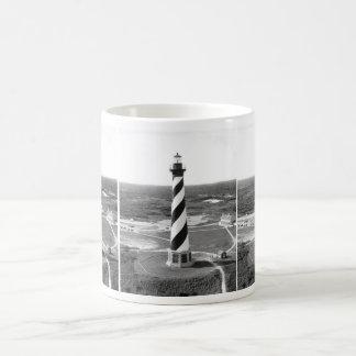 Cape Hatteras Lighthouse black and white photo Classic White Coffee Mug