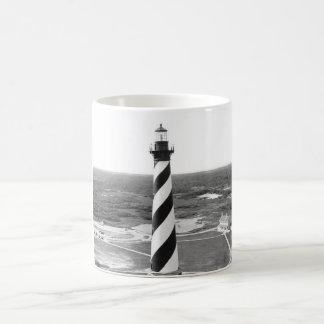 Cape Hatteras Lighthouse black and white photo Coffee Mug