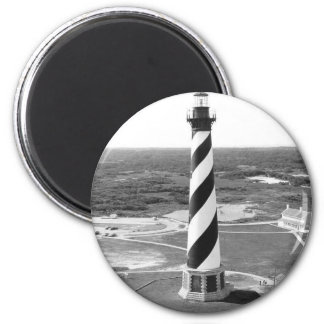 Cape Hatteras Lighthouse black and white photo Magnet