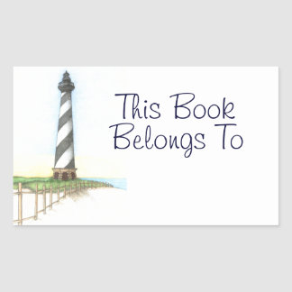 Cape Hatteras Lighthouse Book Label Stickers