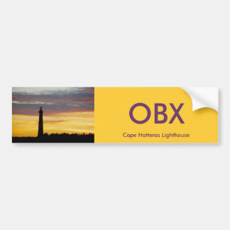 Cape Hatteras Lighthouse Bumper Sticker #1 OBX