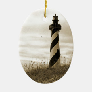 Cape Hatteras Lighthouse Ceramic Ornament