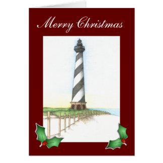 Cape Hatteras Lighthouse Christmas Card