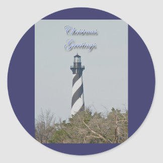 Cape Hatteras Lighthouse Christmas Stickers