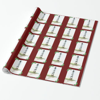 Cape Hatteras Lighthouse Christmas Wrapping Paper