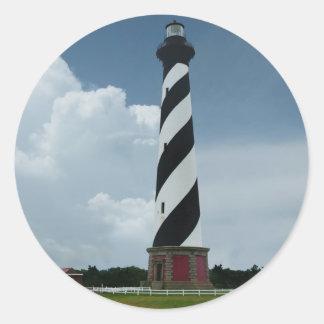Cape Hatteras Lighthouse Classic Round Sticker