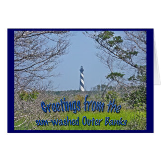 Cape Hatteras Lighthouse from Wetlands Series Greeting Card