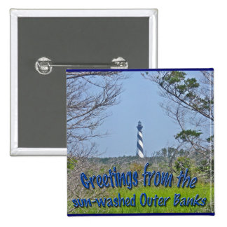 Cape Hatteras Lighthouse from Wetlands Series Pinback Button
