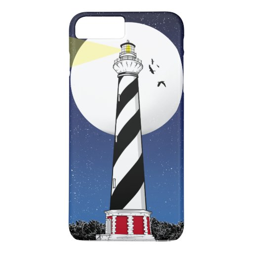 Cape Hatteras Lighthouse ILLUSTRATION iPhone 8 Plus/7 Plus Case
