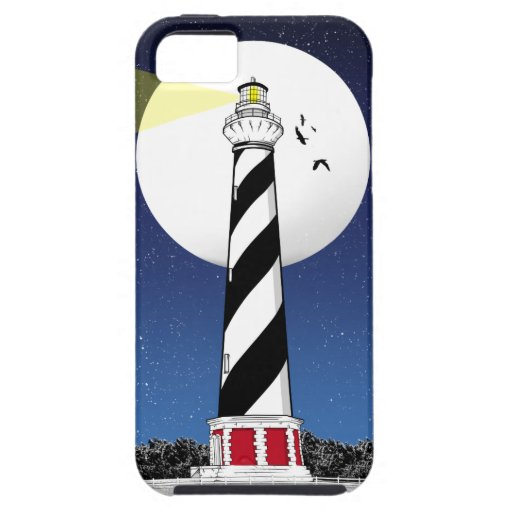 Cape Hatteras Lighthouse ILLUSTRATION iPhone SE/5/5s Case