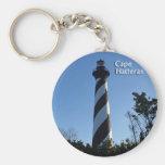 Cape Hatteras Lighthouse Basic Round Button Keychain