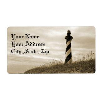 Cape Hatteras Lighthouse Label