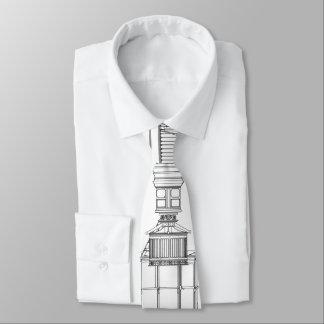 Cape Hatteras Lighthouse Lantern Room Blueprint Tie