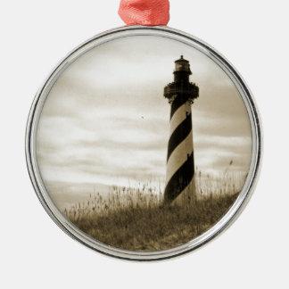 Cape Hatteras Lighthouse Metal Ornament
