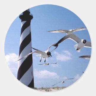 Cape Hatteras Lighthouse North Carolina lighthouse Classic Round Sticker