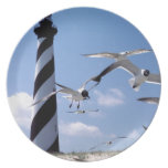 Cape Hatteras Lighthouse North Carolina lighthouse Party Plate