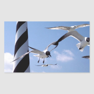 Cape Hatteras Lighthouse North Carolina lighthouse Rectangular Sticker