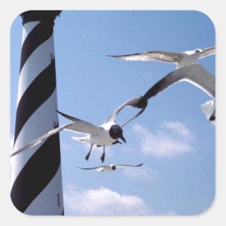 Cape Hatteras Lighthouse North Carolina lighthouse Square Sticker