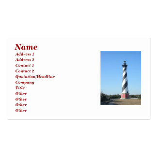 Cape Hatteras Lighthouse OBX Business Card