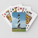 "Cape Hatteras Lighthouse Outer Banks NC Playing Cards<br><div class=""desc"">The Outer Banks of North Carolina are dominated by the magnificent Cape Hatteras Lighthouse. The black and white spiral lighthouse stands out tall against the Blue sky and fluffy white clouds. No Outer Banks vacation is complete without a visit to this imposing East Coast Lighthouse! Original photo by Connie Renda...</div>"
