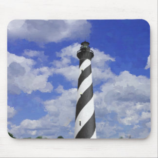 Cape Hatteras Lighthouse Painting Mouse Pad