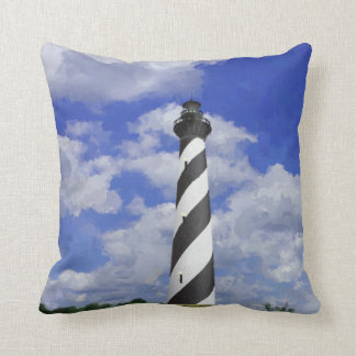 Cape Hatteras Lighthouse Painting Pillows