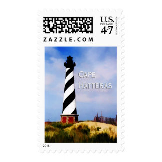 Cape Hatteras Lighthouse Poster Text Cape Hatteras Postage