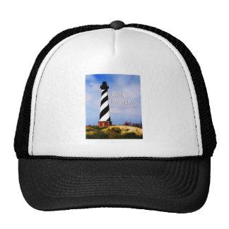 Cape Hatteras Lighthouse Poster Text Cape Hatteras Trucker Hat