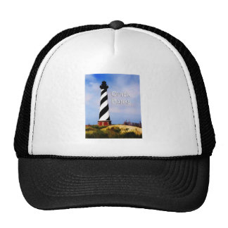 Cape Hatteras Lighthouse Poster Text Outer Banks Trucker Hat
