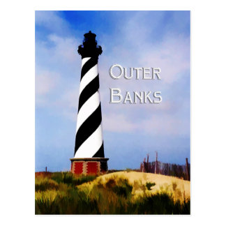 Cape Hatteras Lighthouse Poster Text Outer Banks Postcard