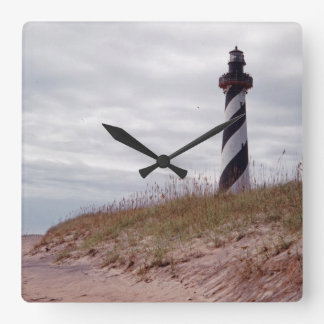 Cape Hatteras Lighthouse Square Wall Clocks