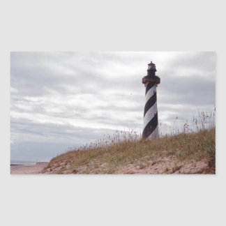 Cape Hatteras Lighthouse Rectangular Stickers