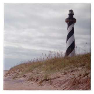 Cape Hatteras Lighthouse Large Square Tile