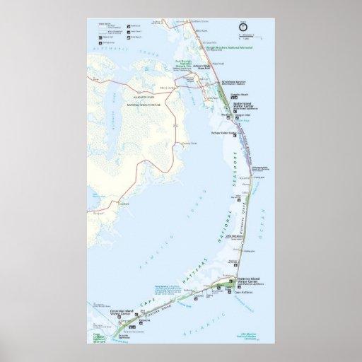 cape hatteras national seashore map