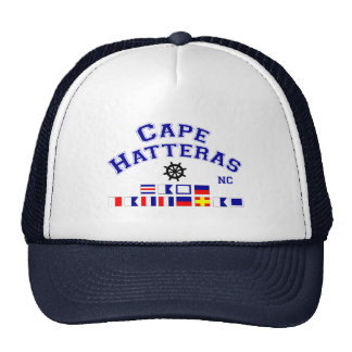 Cape Hatteras NC Signal Flags Trucker Hat