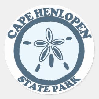 Cape Henlopen. Classic Round Sticker