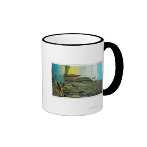 Cape Horn and Cigar Rock on Columbia River Ringer Coffee Mug