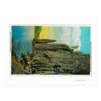 Cape Horn and Cigar Rock on Columbia River Post Card