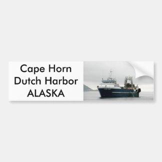 Cape Horn, Factory Trawler in Dutch Harbor, AK Car Bumper Sticker