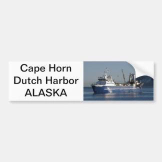 Cape Horn, Factory Trawler in Dutch Harbor, AK Bumper Sticker