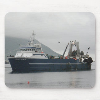Cape Horn, Factory Trawler in Dutch Harbor, AK Mouse Pad