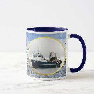 Cape Horn, Factory Trawler in Dutch Harbor, AK Mug