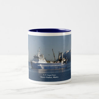 Cape Horn, Factory Trawler in Dutch Harbor, AK Two-Tone Coffee Mug