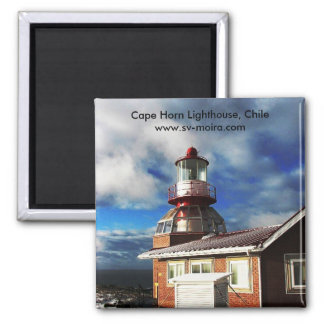 Cape Horn Lighthouse, Chile 2 Inch Square Magnet
